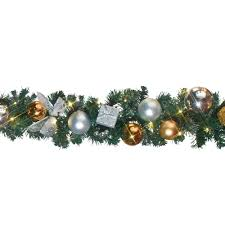 christmas garland with lights fanciful roping garland then clear lights home depot logo to the