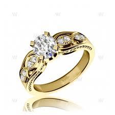 snubny prsten zásnubný prsteň so zirkónmi žlté zlato