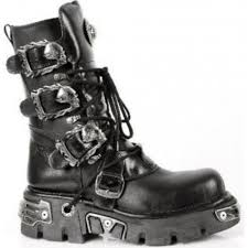 leather biker boots mens new rock boots m 391 s1 mens new rock leather biker goth boots