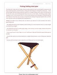 fishing folding stool free woodworking plan