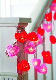 valentines day lights heart shaped string lights set of 2 toys
