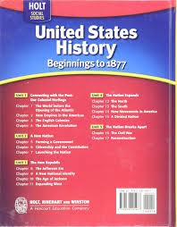 amazon com united states history beginnings to 1877 2009 holt