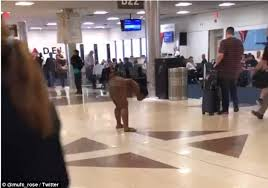 how is target in atlantic terminal om black friday woman strolls through atlanta u0027s airport daily mail online