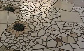 mosaic tile floor transition hometalk
