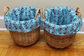 Make A Laundry Hamper by How To Make Diy Basket Liners For Round Baskets Heartworkorg Com