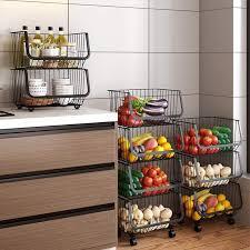 vegetable storage kitchen cabinets removable fruit and vegetable storage basket