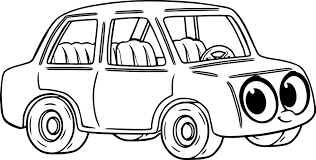 morphle cartoon my cute car coloring page wecoloringpage