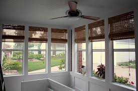 screened porch outdoor bamboo shades for screened porch window treatments