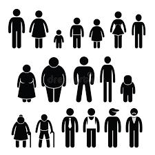 clipart uomo clipart di dimensione di et罌 dei bambini della donna dell uomo