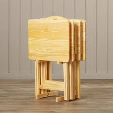 Folding Tv Tray Table Wooden Folding Tv Trays Foter