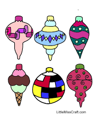 crafts ornaments coloring page