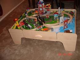 imaginarium train table instructions wooden train table for kids wallowaoregon com