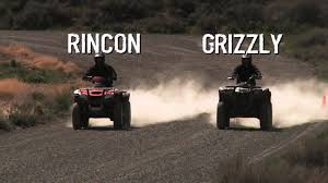 grizzly 700 vs rincon 680 workability youtube