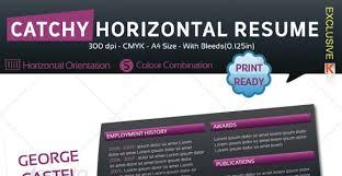 Horizontal Resume 40 Fantastic Resume Cv Templates To Show Off Your Skills