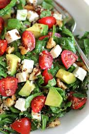 Garden Vegetable Salad by Quinoa Salad With Avocado Cherry Tomatoes And Feta Green Valley