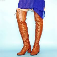 Women U0027s Front Lace Up High Heel Over The Knee High Boots Ankle