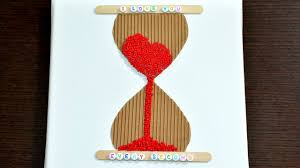 Hourglass Home Decor 3d Love Time Hourglass Canvas Diy Art Craft How To Make It Room