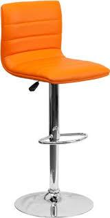 Adjustable Height Chairs Flash Furniture Contemporary Orange Vinyl Adjustable