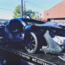 the mclaren p1 crashed in dallas had been bought just one day