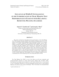 influence of wais iv intelligence in the interpretation of trail