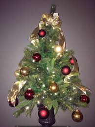and gold christmas tree decorations