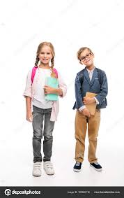 classmates books classmates with backpacks and books stock photo allaserebrina