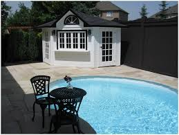 backyards cozy corner shed cabana toronto backyard building pool