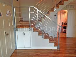 Stainless Steel Stairs Design Upscale Single Stainless Steel Bar System Guardrail Stairs Atelier
