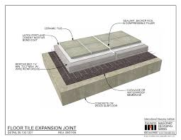 06 130 1301 floor tile expansion joint international masonry