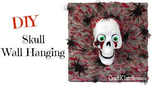 Easy Halloween Craft Projects by Craft Klatch Diy Dollar Store Skull Wall Hanging Craft Klatch