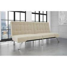 Modern White Leather Sofa Bed Sleeper Leather Sleeper Sofa Ebay