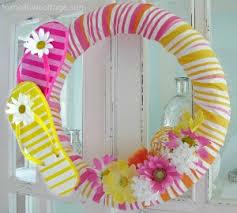 flip flop wreath flip flop summer pool noodle wreath tutorial fox hollow cottage