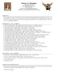 Dancer Resume Sample Dance Instructor Cover Letter