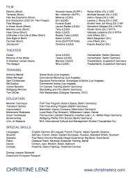 Green Card Resume Resume U2014 Christine Lenz
