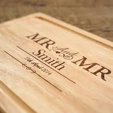 personalised cutting board personalised mr and mrs chopping board temptation gifts