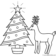 christmas tree rudolph coloring christmas