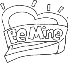 be mine valentines day coloring pages valentine coloring pages