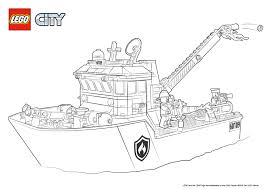 fire boat colouring page lego city activities city lego com