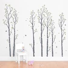 Tree Wall Decals For Nursery Wall Decals Trees Young Birch Forest Wall Decal