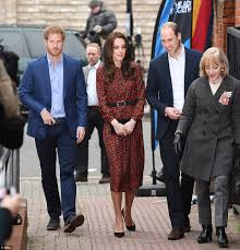 kate middleton joined by william and harry at charity event