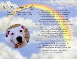 when a pet dies personalized pet memorial poem the rainbow bridge for loss of pet