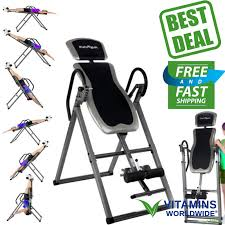 inversion table hanging up foldable fitness back therapy pain flip