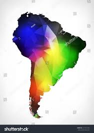 Outline Map Of South America by Rainbow Colors Outline Map South America Stock Illustration