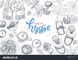 hygge danish living concept vector template stock vector 685122859