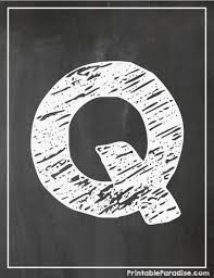 printable letter q chalkboard writing print chalky letter q