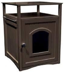 cat condo dog bed litter box night stand decorative bathroom