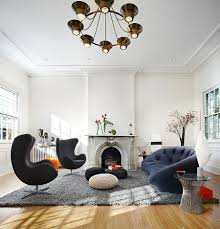 Living Room Furniture On Finance Ploum Sofa By Ligne Roset Matches The Charm Of The Egg Chairs