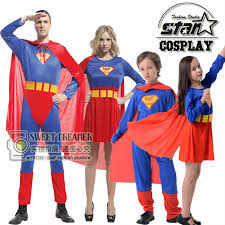 Superhero Halloween Costumes Girls Aliexpress Buy Halloween Superman Costume Family