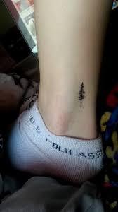small tree on side leg