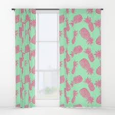 linocut window curtains society6